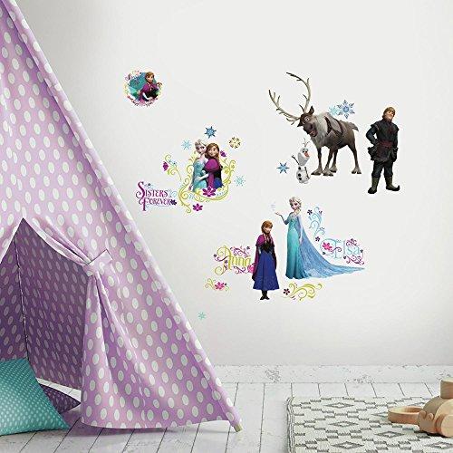 Roommates 23610 - Eiskönigin (Frozen) Wandtattoos/Sticker, geblistert, 4 Blätter, 36 Elemente