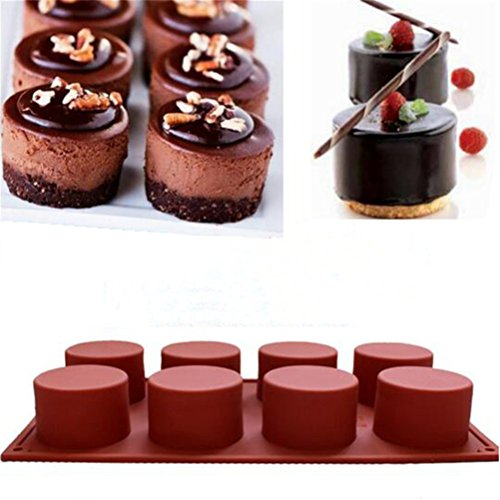 8 Löchern Runde Form Silikon Handgefertigt Cupcake Cookie Mini Seife Mold DIY Backen Tools (Waffel Cup Maker)