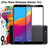 Annure® Edge To Edge Shatterproof Tempered Glass Screen Protector For Honor 7C - Black