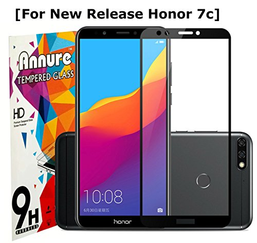 Annure Shatterproof 9H Tempered Glass for Honor 7c
