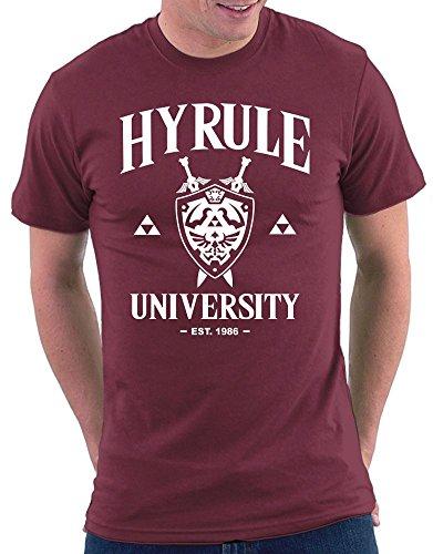 Hyrule University T-shirt Bordeaux