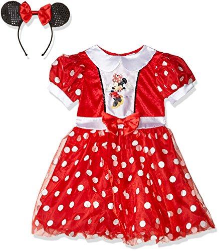 Disney Minnie™-Kostüm für Mädchen - 5-6 (Maus Ohren Minnie Disney)