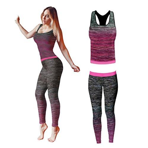 Conjunto de ropa de yoga o entrenamiento para mujer de Bonjour, parte superior y...