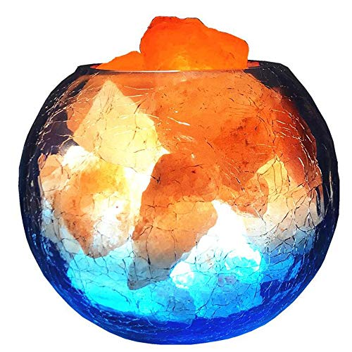 Salzlampe, Glaslampe, Kristallsalzlampe, Negativ-Ionen-Feng-Shui-Lampe, Kreatives Dimming Nachtlicht, Schlafzimmer-Schlafleuderlampe -