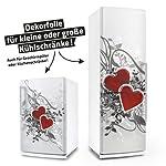 Kühlschrank- & Geschirrspüler-Aufkleber --- Retro Love Herzen --- Dekor Folie Klebefolie Front Sticker
