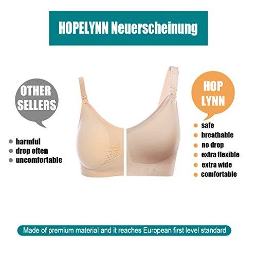 HOPLYNN Still-BH Schwangerschafts-BH, nahtlose weiche Damen Umstands-BHs ohne Bügel Nude