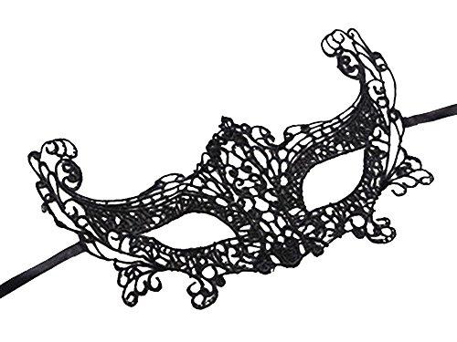 Erwachsene Maske Schwarz Spitze Sexy Schutzbrille Weihnachten (Und Halloween Herr Fox Frau Kostüm)