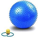 Übung Ball, VALENTIEN Anti-Burst und Slip Resistant Athletic Aufblasbare Twist Massage Balance Fitness Ball mit Pumpe