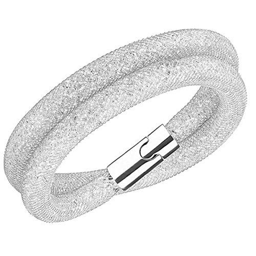Swarovski Damen-Armband Edelstahl Glas transparent 38 cm - 5184183 (Deluxe-armband)