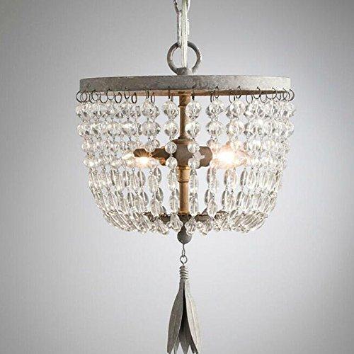 Kristall-Kronleuchter tun alte klassische transparente Kristall-Glas und Chrom Decke Anhänger Beleuchtung, warmes weißes Licht -
