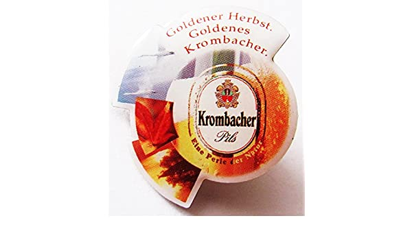 Pin 28 x 28 mm Goldener Herbst Goldenes Krombacher Krombacher