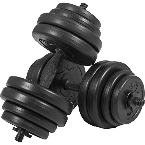 GYRONETICS Kurzhantel-Set 30 kg Kunststoff - Hantelstangen 25 mm, Gewichten und Sternverschlüssen