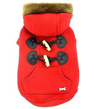 Smalllee Lucky Store cornes Veste à capuche/Manteau avec polaire pour petit chien/chat,,