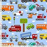 Stoff Kinderzimmer Autos