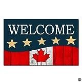 artswow Eingang Fußmatte–Kanada Flagge Holz Fußmatte mit Rutschfeste Unterseite aus Gummi Fußmatte, 15,7von 59,9cm