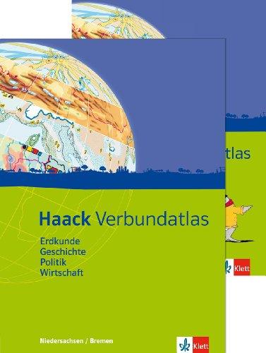 Haack Verbundatlas Erdkunde, Geschichte, Politik, Wirtschaft. Ausgabe Niedersachsen und Bremen: Atlas mit Arbeitsheft Klasse 5-10