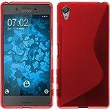 PhoneNatic Case für Sony Xperia X Hülle Silikon rot S-Style + 2 Schutzfolien