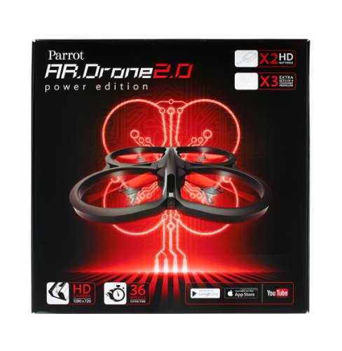 Parrot AR.Drone 2.0 Power Edition Quadrocopter (geeignet für Android-/Apple-Smartphones und -Tablets) rot - 6