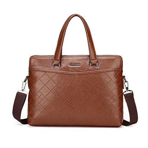 Männer Schultertasche Kreuz Abschnitt High Grade Handtasche Classic Stone Pattern Business Bag Computer Tasche F