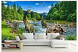 HHCYY 3D Tapete Benutzerdefinierte Vlies Tv-Wand Durch Dinosaurier Schönheit Wandbild Hauptdekoration-200cmx140cm