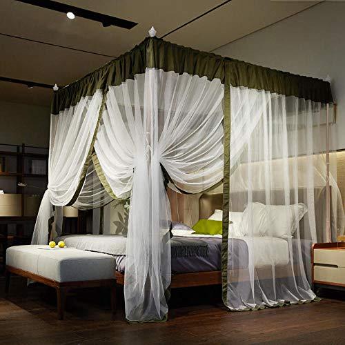Zanzariera - reti da palazzo principessa del vento. staffe a tre ante in acciaio inossidabile. letto verde 1,5 m