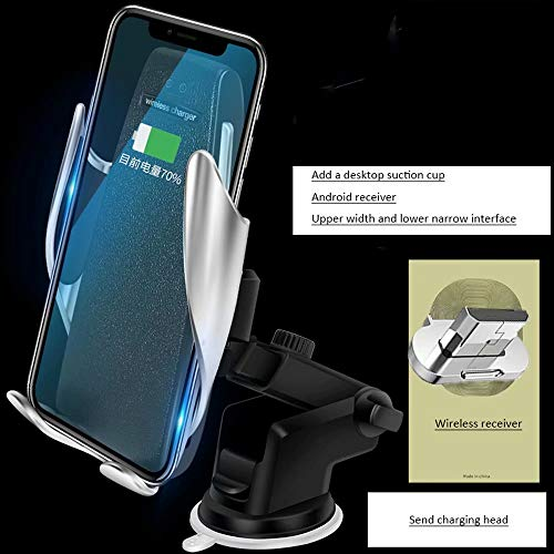 DFGB-CZSJZ Clip mágico soporte para teléfono para coche cargador inalámbrico para coche cargador de coche de navegación por inducción automático inteligente - Cargador Telefono De Inalambrico