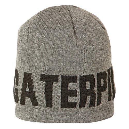 Caterpillar Mütze mit Aufschrift / Haube (Einheitsgröße) (Grau)