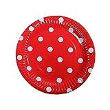 DoGeek Pappteller  Partyteller Einwegteller ideal für Feste und Feiern wie Geburtstag oder Grillabend, aus Frischfaserkarton, beschichtet und lebensmittelecht 18cm (120 Pack, Punkt) - 6