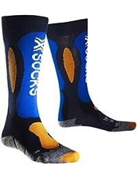 X-Socks carving chaussettes de ski-enfant-bleu marine/argent-cobalt blue Multicolore Blue Marine/Cobalt Blue