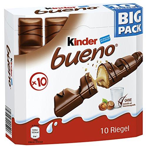 Kinder Bueno 10er Big Pack, Der leckere Genuss-Vorrat für zu Hause, 215 g
