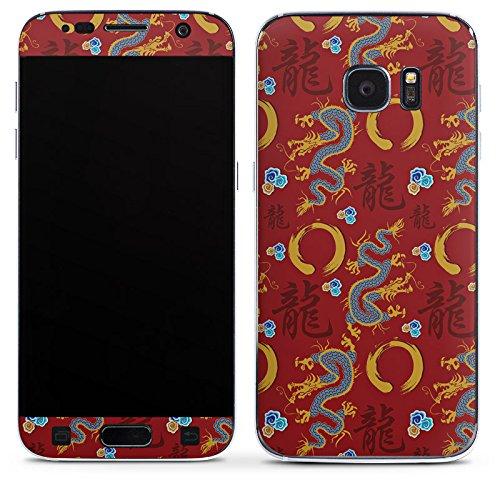 DeinDesign Samsung Galaxy S7 Folie Skin Sticker aus Vinyl-Folie Aufkleber China Drachen Dragons