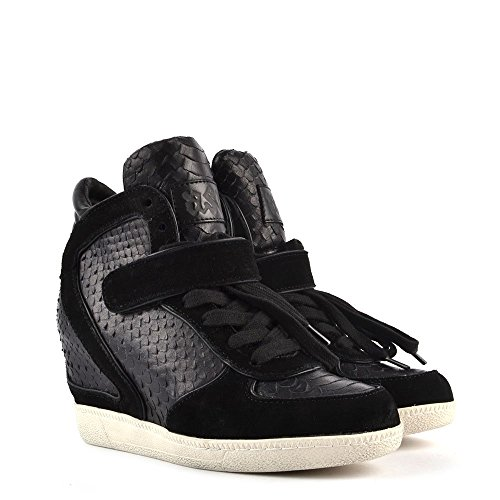 Damen Schwarz Leder Ash Sneaker Aus Brendy 6wqxHpY