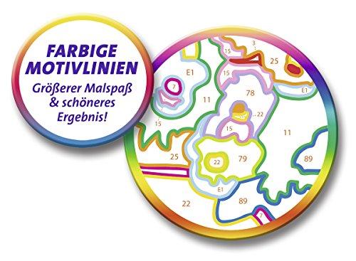 Ravensburger Malen nach Zahlen 27787 27787-Arielle, die Meerjungfrau-Malen nach Zahlen, Format 13 x 18 cm, Multicolor