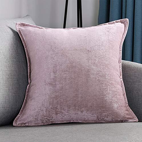 BAOZEHN Einfarbig Chenille Sofakissen Kissen Platz Dekorative Kissen Büro Wohnzimmer Autobett -