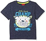 s.Oliver Baby-Jungen T-Shirt 65.803.32.5275, Blau (Dark Blue Melange AOP 58w6), 80