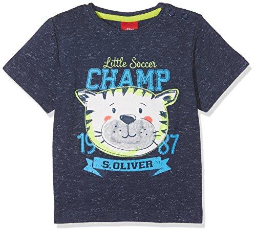 s.Oliver Baby-Jungen T-Shirt 65.803.32.5275, Blau (Dark Blue Melange AOP 58w6), 86