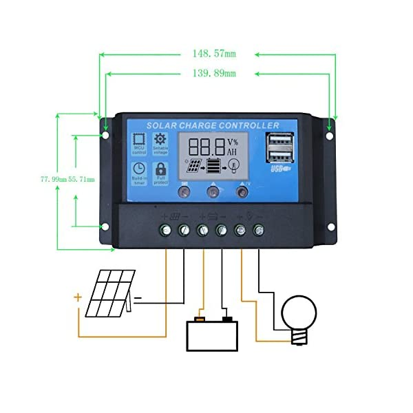 ECO-WORTHY 12 Volt 100 Watt Monocrystalline Solar Starter Kit: 1pc 100W Mono Solar Panel + 20A LCD Solar Controller + 30Ft Solar PV Cable with MC4 Connectors + Z Mounting Brackets 5