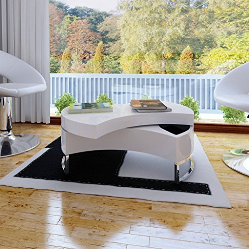 Deals For Coffee Table Shape-adjustable High Gloss White on Line