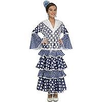 My Other Me Disfraz de flamenca alvero para niña, color azul, 5-6 años (Viving Costumes 204875)