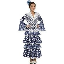 My Other Me - Disfraz de flamenca alvero para niña, 5-6 años, color azul (Viving Costumes 204875)