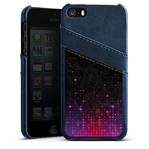 Apple iPhone 6 Housse Étui Silicone Coque Protection Points Motif Motif Étui en cuir bleu marine