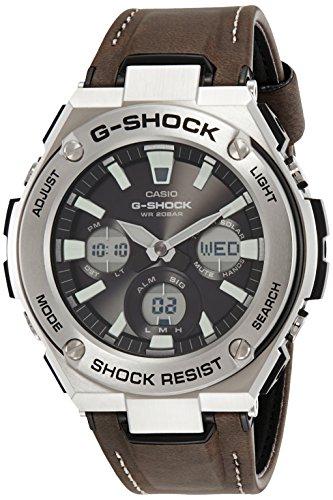 Casio Men's G Shock GSTS130BD-1A Black Stainless-Steel Quartz Dress Watch