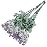 Liroyal A bouquet 10 Head Artificial Lavender Silk Flowers Violet Bouquet Home Garden Decoration
