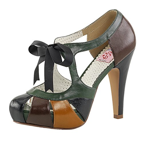 Heels-Perfect , Hi-Top Slippers femme Mehrfarbig (braun)
