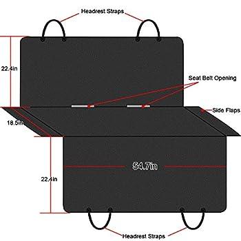 Version Tech Housse de Protection de Banquette arrière Imperméable Hamac Bâche de protection Couverture Etanche Résistera aux Griffes de Toutou Compatible avec la plupart des Véhicules Peugeot pour Chien, Chat et Animaux