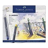 Faber-Castell 114724 - Farbstifte mit permanenter Ölkreidemine Goldfaber, 24er Set