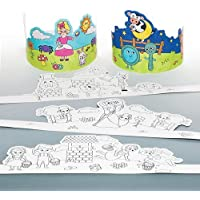 Baker Ross Couronnes comptines à colorier Que Les Enfants pourront décorer (Lot de 6)