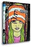 Kunstbruder Kunstdruck auf Leinwand - El Bocho Graffiti - is it me? - Bild fertig auf Keilrahmen/Pop Art Gemälde Leinwandbild Wandbild Dekoration Zimmerbild (70x100cm)