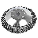 Wuudi Spazzola rotante per decespugliatore, Professionale erbaccia spazzola universale in acciaio HSS per decespugliatore rimuovere erbacce, foro 25,4 mm, diametro 200 mm