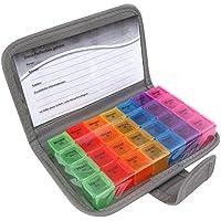 PuTwo Pillendose 7 Tage Tablettenbox tragbar mit 28 Fächer und Schutzhülle, Luft-wasser verdichtet preisvergleich bei billige-tabletten.eu